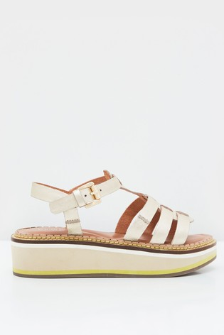 White Stuff Fisherman Leather Flatform Sandals