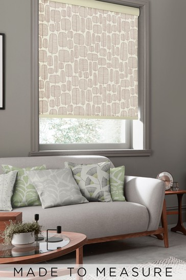 Little Trees Stone Natural Made To Measure Roller Blind by MissPrint
