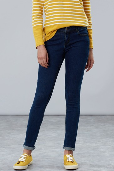 Joules Blue Monroe High Rise Stretch Skinny Jeans