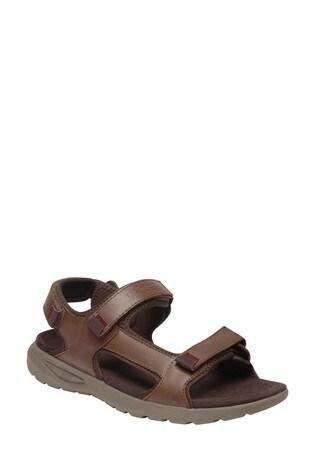 Regatta Brown Marine Leather Sandals
