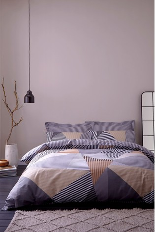 Jazz Geometric Cotton Duvet Cover and Pillowcase Set by Bianca