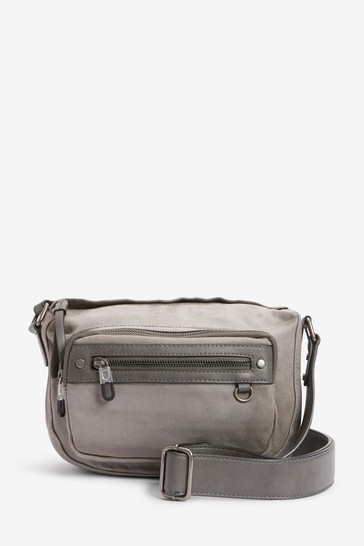 Grey Utility Cross-Body Bag