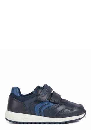 Geox Junior Boy/Unisex Alben Navy/Dk Avio Velcro Sneakers