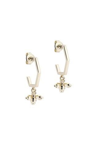 Ted Baker Metallic Bedza Bumble Bee Hoop Earrings