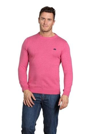 Raging Bull Pink Cashmere Crew Neck Sweater