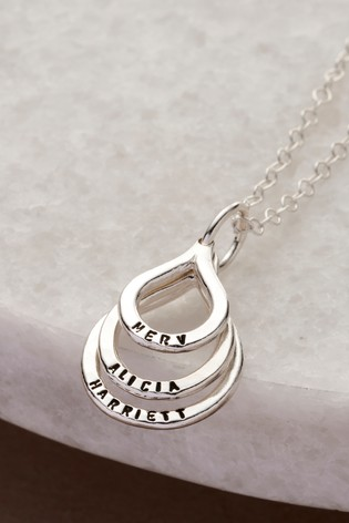 Personalised Family Names Droplet Necklace by Posh Totty Designs