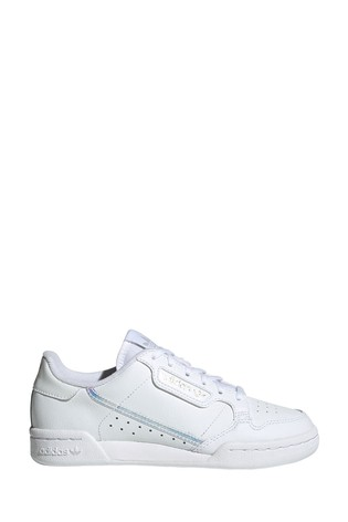 adidas Originals White Iridescent Continental 80 Youth Trainers