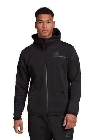 adidas Black Z.N.E Zip Through Hoodie