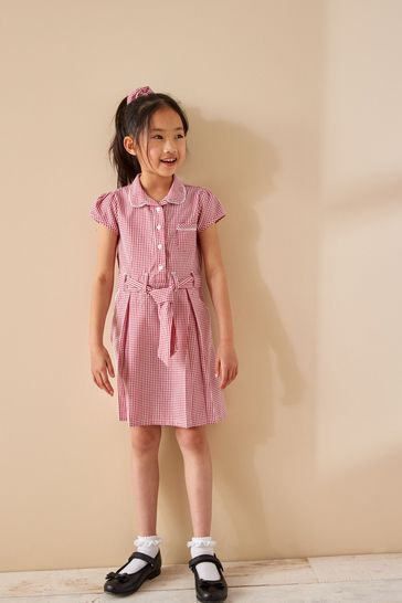 Red Gingham Bow (3-14yrs)