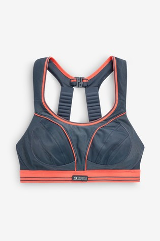 Shock Absorber Grey Ultimate Run Non Wired Sports Bra