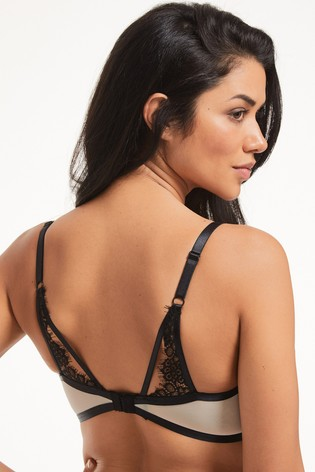 Figleaves Fleur Lace And Mesh Non Pad Plunge Bra