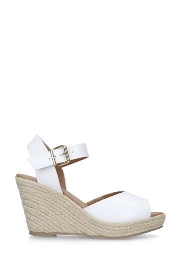 KG Kurt Geiger White Paisley2 Sandals