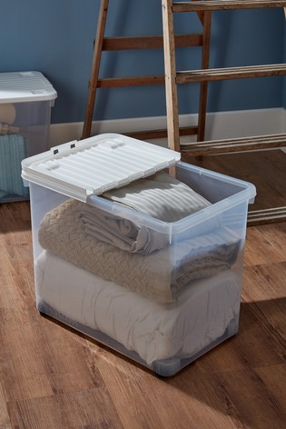 Set of 2 Uni 80L Folding Lid And Wheels Boxes by Wham