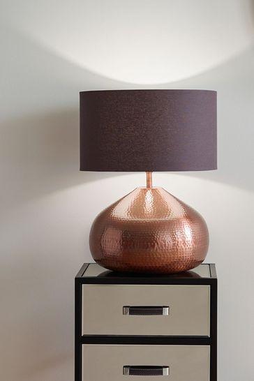 Pacific Copper Melville Metal Pot Table Lamp