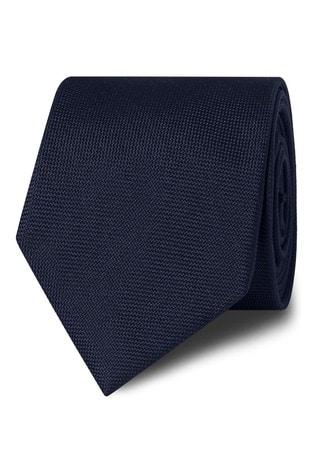 T.M. Lewin Navy Panama Silk Tie