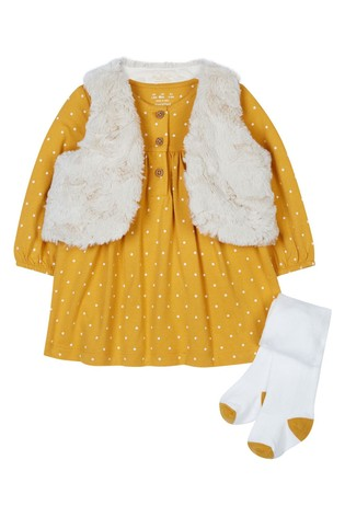 F&F Multi Dress And Gilet Set