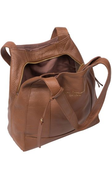 PureLuxuries London Tan Colette Leather Handbag