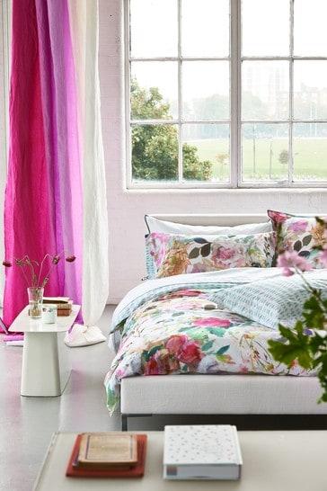 Designers Guild Pink Palissy Duvet Cover