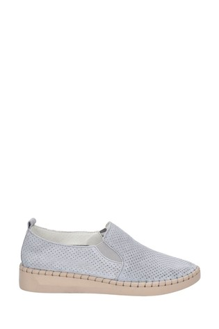 Fleet & Foster Grey Tulip Slip-On Shoes