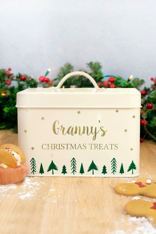 Personalised Christmas Treat Tin by Jonnys Sister