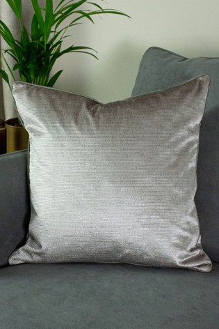 Riva Home Silver Stella Snakeskin Cushion