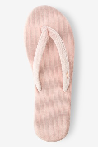 Pink Toe Thong Slippers
