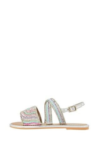 Monsoon Allie Silver Beaded Sandals
