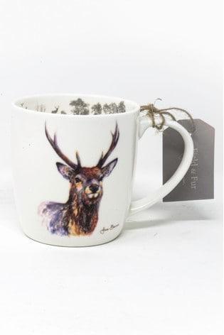 Pyramid International Jane Bannon Proudlock Stag Fine China Mug