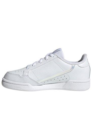 adidas Originals White Iridescent Continental 80 Junior Trainers