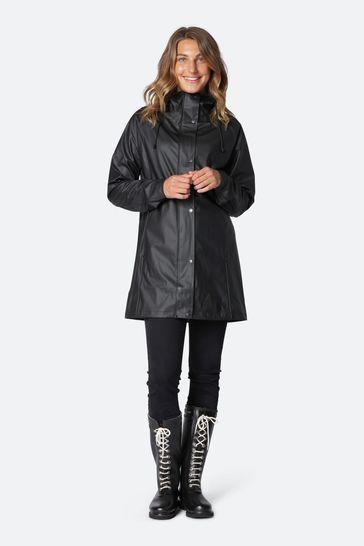 Ilse Jacobson Black Waterproof Raincoat