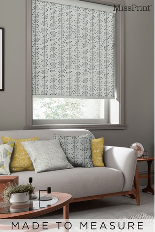 Muscat Small Matchbox Grey Made To Measure Roller Blind by MissPrint