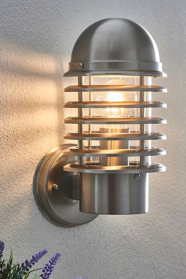Gallery Direct Silver Archy Outdoor Wall Light