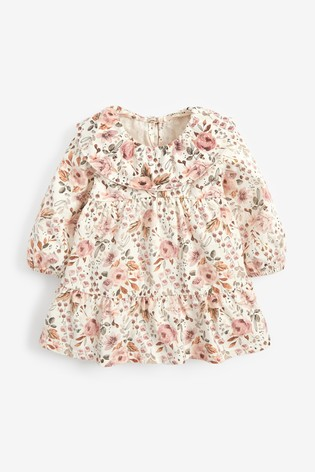 Pink Floral Tiered Collar Top (3mths-7yrs)