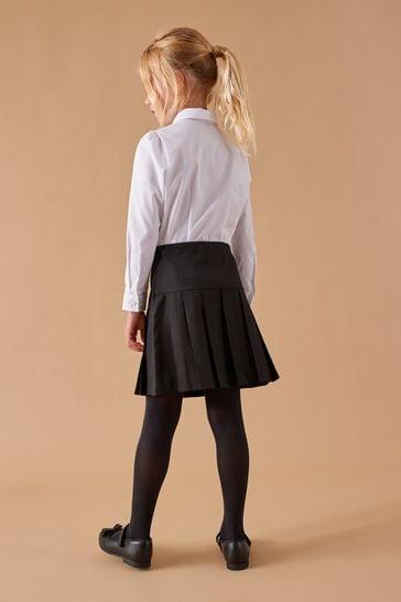 Black 2 Pack Pleat Skirts (3-16yrs)
