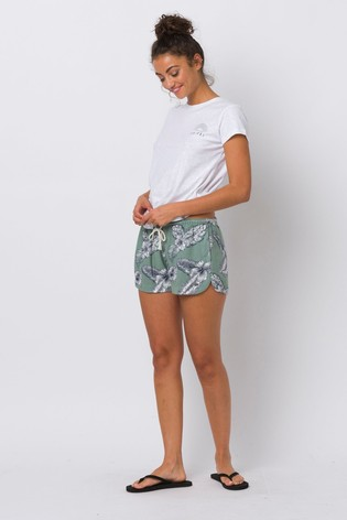 Animal Green Paige Woven Shorts