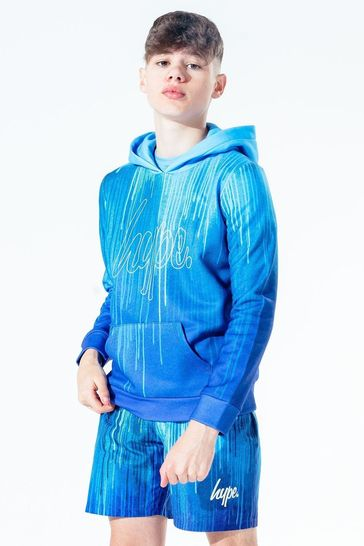 Hype. Kids Blue Drip Pullover Hoody