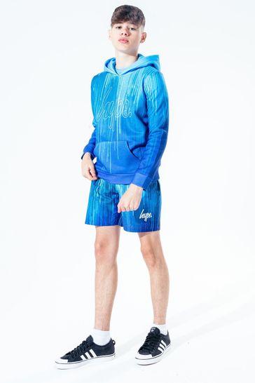 Hype. Kids Blue Drip Pullover Hoodie