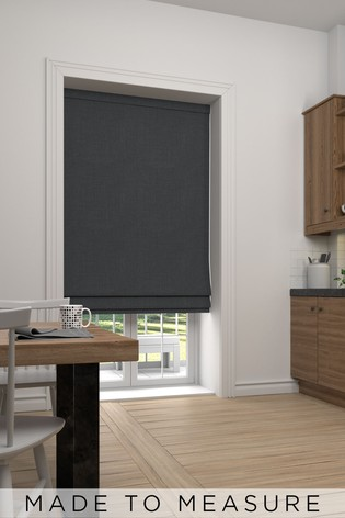 Textured Charcoal Grey Made To Measure Roman Blind