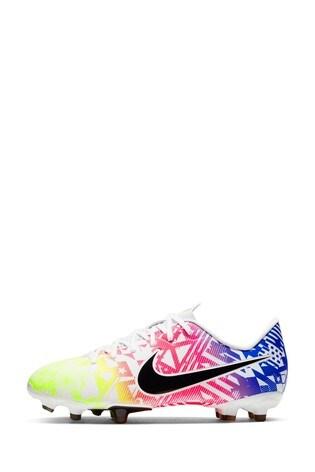 Nike White Mercurial Vapor 13 Academy Neymar Jr. Multi Ground Junior And Youth Football Boots