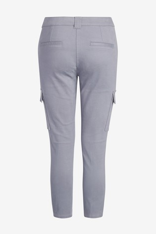 Lilac Cropped Utility Skinny Jeans