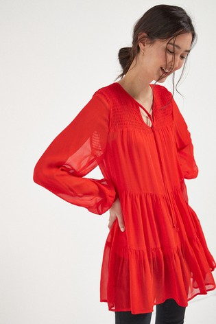 Red Tiered Tunic
