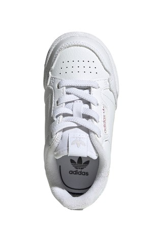 adidas Originals  White Iridescent Continental 80 Infant Trainers