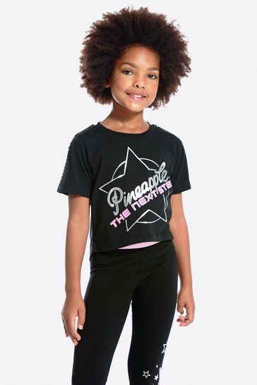 Pineapple Black The Next Step Cropped T-Shirt