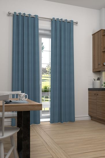 Cotton Dark Teal Made to Measure Curtains