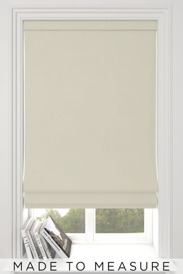Eloise Oyster Cream Made To Measure Roman Blind