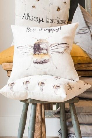 Bee Happy Cushion by Evans Lichfield