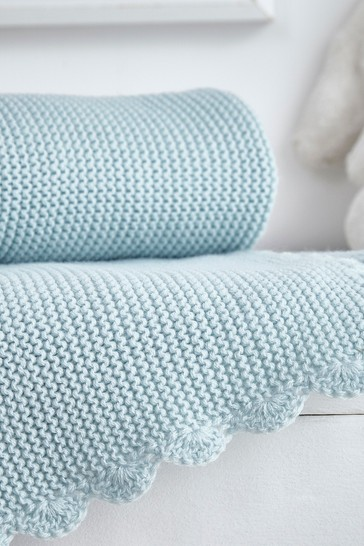 Safe Nights Knitted Crochet Edge Blanket by Silentnight