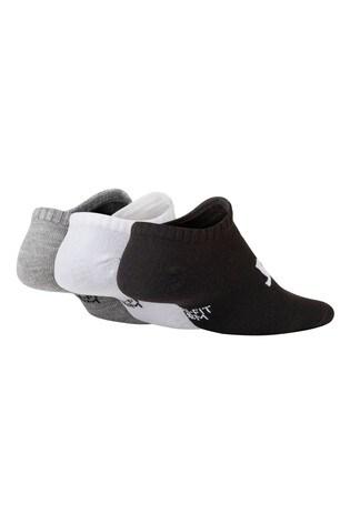 Nike Kids Black/White/Grey Trainer Socks 3 Pack
