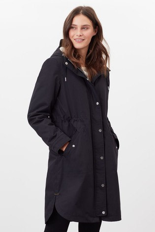 Joules Black Loxley Cosy Waterproof Padded Technical Raincoat