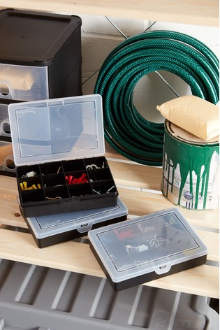 Set of 3 Wham Plastic Organisers With 12 Divisions